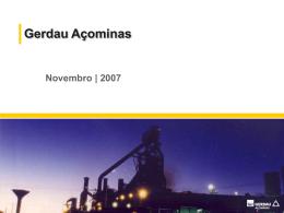 Apresentações Gerdau Açominas e Duke Energy