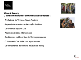 Wine & Beauty, ppt - Plaza Ribeiro Telles
