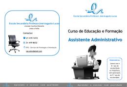 Diapositivo 1 - Escola Secundária Professor José Augusto Lucas