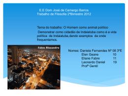 E.E Dom José de Camargo Barros Trabalho de Filosofia