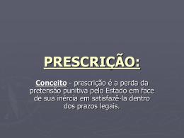 PRESCRIÇÃO:
