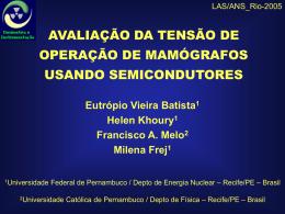 Avaliação da Tensão de Operação de Mamógrafos Usando