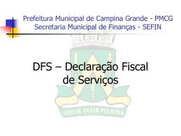 Finanças - Prefeitura Municipal de Campina Grande