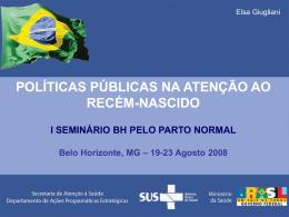 políticas públicas na atenção ao recém-nascido