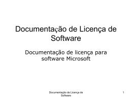 Documentação de Licença de Software