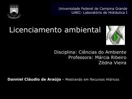 LicenciamentoAmbiental - Área de Engenharia de Recursos