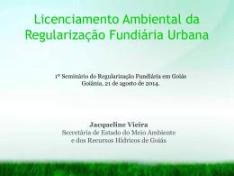 Licenciamento Ambiental da Regularização