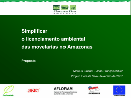 Simplificar o licenciamento ambiental das movelarias no