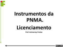 instrumentos da pnma licenciamento