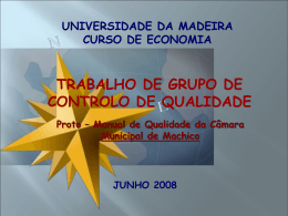 TRABALHO DE GRUPO CONTROLO DE QUALIDADE