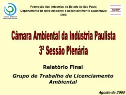 Relato Final GT Licenciamento Ambiental_2005.
