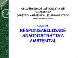 AULA 03 - RESPONSABILIDADE ADMINISTRATIVA