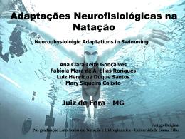 Adaptações Neurofisiologicas na Natação