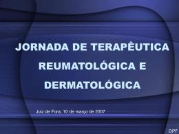 jornada de terapêutica reumatológica e dermatológica - CEM-HUSJ