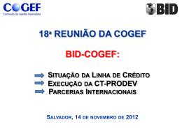 Anexo 13 – COGEF 18a reunião apresentacao BID