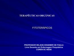 Fitoterápicos - Wilson Kraemer de Paula