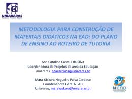 Metodologia para construção de materiais didáticos na EAD