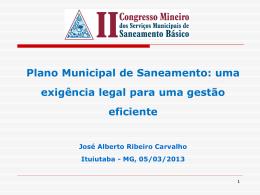 Itapira – SP Plano Municipal de Saneamento Básico