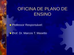 OFICINA DE PLANO DE ENSINO