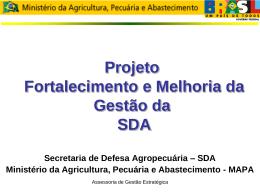 Apresentação do PowerPoint - Ministério da Agricultura