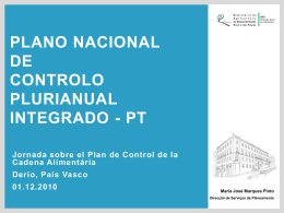 PLANO NACIONAL DE CONTROLO PLURIANUAL