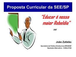 Plano Curricular da SEE/SP