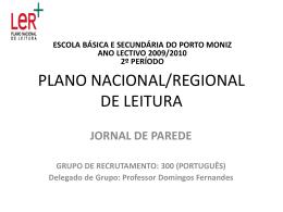 plano nacional/regional de leitura