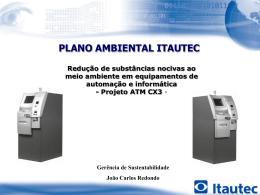 PLANO AMBIENTAL ITAUTEC - Projeto ATM CX3