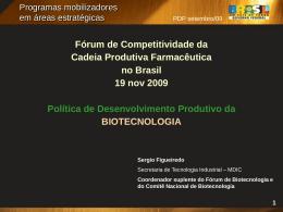 Sérgio Figueiredo – Coordenador Suplente do Comitê Nacional de