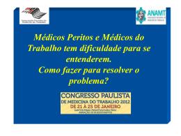 RESOLUÇÃO CFM 1488/98 Médicos do Trabalho