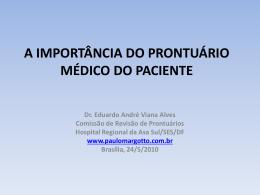 a importância do prontuário médico