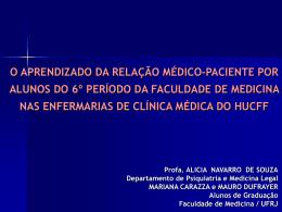 O aprendizado da relação médico-paciente por