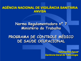 nr 7 programa de controle médico de saúde