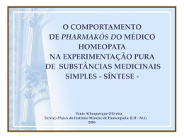 O COMPORTAMENTO DE PHARMAKÓS DO MÉDICO