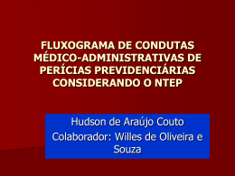 FLUXOGRAMA DE CONDUTAS MÉDICO