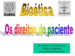 Os direitos do paciente - Site Oficial do Dr. Carlos Barros