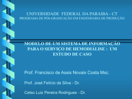 UNIVERSIDADE FEDERAL DA PARAIBA - CT PROGRAMA