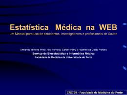 Estatística Médica na WEB - um Manual para uso de estudantes