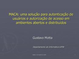 Introdução ao MACA - Departamento de Informática — UFPB