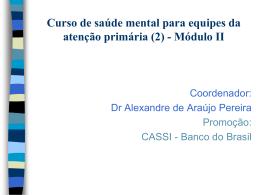 Curso de Saúde Mental para médicos e