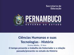 O tempo presente o trabalho do historiador e a relação passado