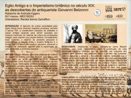 Egito Antigo e o Imperialismo britânico no século XIX: as