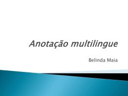 Anotação multilingue