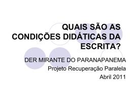OFICINA REESCRITA - diretoria de ensino região mirante do