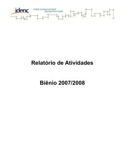 atividades desenvolvidas no ano de 2008