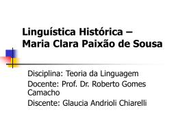 Linguística Histórica nos 1800