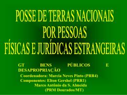Posse de Terras Nacionais por pessoas físicas e jurídicas