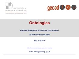 Agentes Inteligentes e Sistemas Cooperativos (aula convidada)