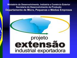 PEIEx - Ministério do Desenvolvimento, Indústria e Comércio Exterior
