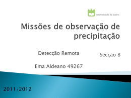 Missões de Obse. da Precipitação